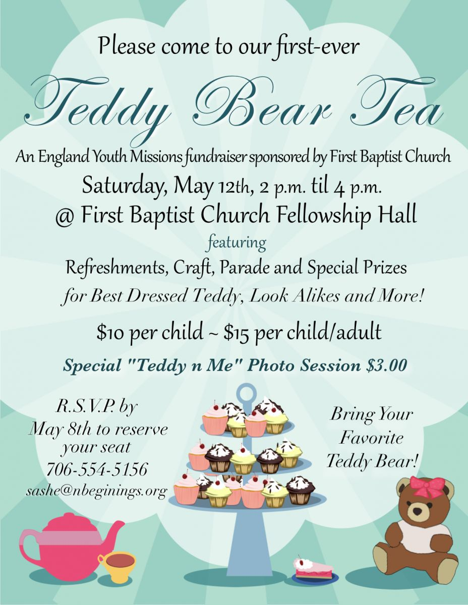 First-Ever Teddy Bear Tea to Support England Missions | First ...
